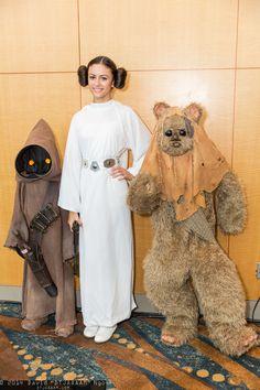 Jawa, Princess Leia Organa, and Ewok #LBCC2014 #DTJAAAAM
