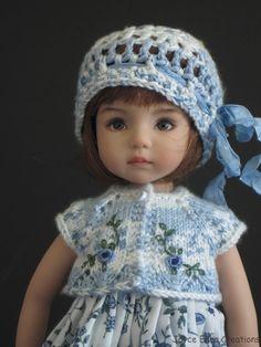 "Blue White 5 PC Set Handmade for 13"" Effner Little Darling 14"" Kish BJD by JEC | eBay"