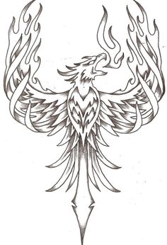 phoenix firebird by thelob traditional art drawings other 2010 2015 . Kunst Tattoos, Body Art Tattoos, New Tattoos, Sleeve Tattoos, Phoenix Bird Tattoos, Phoenix Tattoo Design, Tribal Phoenix Tattoo, Rising Phoenix Tattoo, Firebird