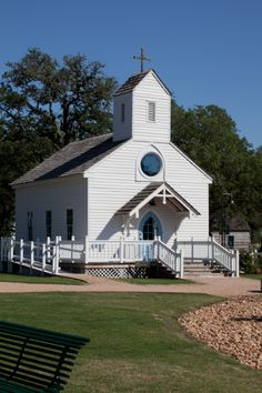 The Chapel at Henkel Square in Round Top, Texas. The perfect spot for an intimate gathering for a wedding!