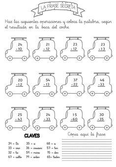 Actividades para niños preescolar, primaria e inicial. Fichas con sumas divertidas para imprimir para niños de primaria. Sumas Divertidas. 12 Math For Kids, Fun Math, Math Activities, Learning Resources, Kids Learning, 2nd Grade Math Worksheets, Math Help, Preschool Printables, Kids Education