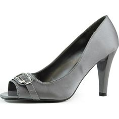 Save 10% + Free Shipping Offer * | Coupon Code: Pinterest10 Material: Man Made Satin Material 3 inch heel, (Approx) Brand: Nature Breeze Product Code: Savana-01 Grey Women's Nature Breeze Savana-01 Grey Satin Peep Toe Pumps