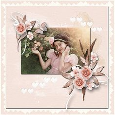 Rose Sombre by Anita D ♥ freebie for the registered members of Just Art RAK for a friend Olga Super Images, Poppies, Beautiful Pictures, Rose, Scrapbooking, Layout, Painting, Art, Art Background