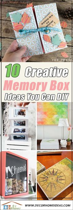 DIY home decor, look to this hot, whip-smart mode in room styling, analyze this feature ref 6009715654 here. Craft Projects For Kids, Easy Diy Projects, Diy For Kids, Memories Box, Cool Diy, Diy Furniture Hacks, So Creative, Diy Box, Box Design