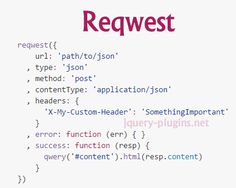 Reqwest – Browser Asynchronous HTTP Requests #ajax #jsonp #async #request #javascript #xhr #XMLHttpRequest #http #browser