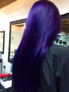 Violet with Blue pravana hair #stylistsarahphall