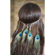 Collections by Hayley Boho Festival Peacock Feather Headpiece (100 RON) ❤ liked on Polyvore featuring accessories, hair accessories, green, feather hair accessories, holiday hair accessories, boho hair accessories, peacock hair accessories and peacock feather hair accessories