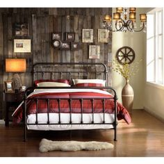 Weston Home Antique Bronze Full Bed, Brown