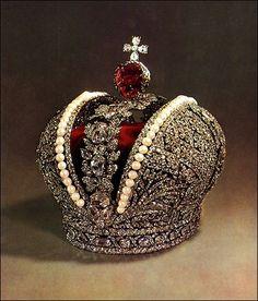 Corona imperial de Rusia creó para la coronación de Catalina la Grande ,