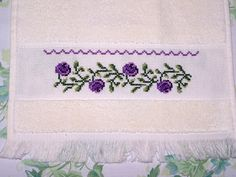 simple cross stitch flower border - Google Search