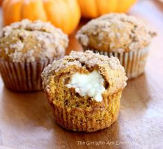 Pumpkin Cream Cheese Muffins Recipe - RecipeChart.com