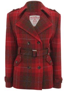 Harris Tweed jacket, a classic being updated. Take a look at the label peeking through! Great graphics.
