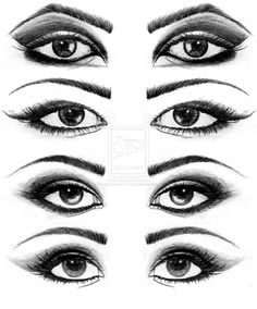 Eyes Drawings. by Psychosomatic-Psyche on deviantART