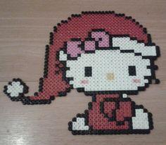 Christmas Hello Kitty hama perler beads by perle-hama-38