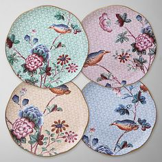 Buy Wedgwood Cuckoo Tea Plates, Multi, Set of 4, Dia.21cm Online at johnlewis.com