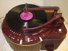 Antique Zenith Cobra Matic Vintage Tube Record Player Restored and Working | eBay