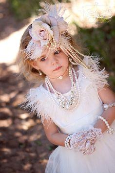 Heavenly Flower Dress S Gatsby Headpiece