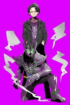 Om kumis Kamen Rider Decade, Kamen Rider Series, Cyborg Superhero, Kamen Rider Kabuto, Power Rangers Samurai, Samurai Warrior, Anime Style, Rogues, Comic Art