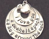 I love you a bushel and a peck necklace. My mom used to say this all the time.  Back off my gift idea, Lori. :)
