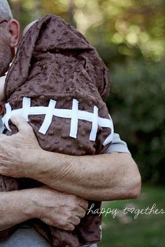 football baby blanket tutorial