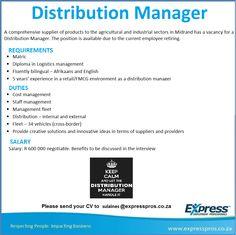 Warehouse Manager   Job Vacancies    Manager And