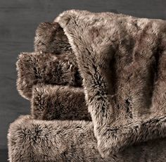 Luxe Faux Fur Throw - Mink.  Restoration H wraps come in this colour too- bridesmaids?