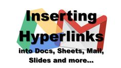 Adding hyperlinks easily is a useful skill... Easily sharing links with others as you collaborate is a useful skill in a cloud-based environment. This tutorial will show you how to insert hyperlinks into Docs, Sheets and Slides. This tip also applies to other software such as Pages, Keynote and Microsoft Office tools.     This video is 6