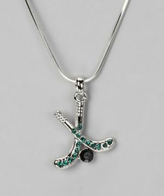 Take a look at this Green Pendant Necklace by Violet Victoria on #zulily today!