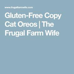Gluten-Free Copy Cat Oreos | The Frugal Farm Wife