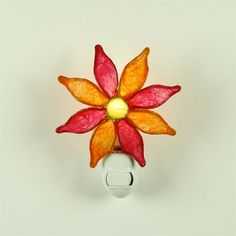Paper Night Light: Pink Flower