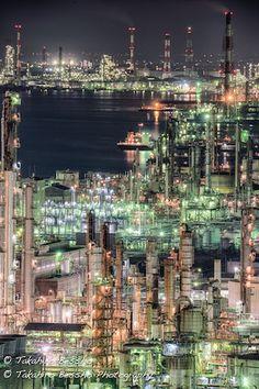 近未来を連想させる「工場夜景」の美しい4作品 非日常性が魅力的 - ライブドアニュース