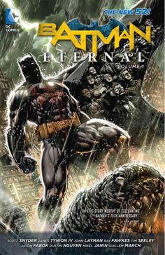 A new weekly Batman series that examines the relationship between the heroes, villains, and citizens of Gotham City! In the wake of Forever Evil, the world looks at heroes in a different light, creati