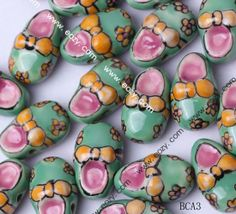 21x13mm Porcelain Charms Slipper Jewelry Necklaces Making Findings Beads
