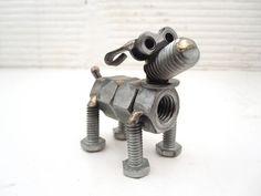 Nuts and Bolts Dog Sculpture Metal Art Sculpture Art Meble zrób to sam Metal Sculpture Artists, Dog Sculpture, Steel Sculpture, Sculpture Projects, Sculpture Ideas, Art Sculptures, Abstract Sculpture, Bronze Sculpture, Welding Art Projects