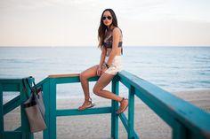 Aimee Song in the Island Stream Bikini Top #oneteaspoon