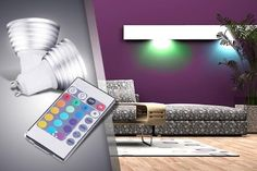 2 Colour-Changing Ceiling Lights
