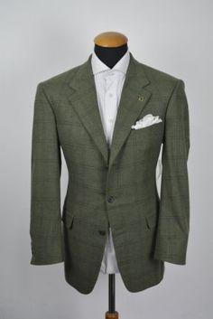 72de8e0279e5e Details about Regent Mens Blazer size 40R Green Tweed Pure Cashmere Plaid  Checks gr 50. eBay. Trajes De Chaqueta HombreTrajes ...