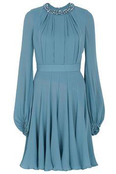 Beautiful <3 Beaded Neckline Shirt Dress by Elie Saab