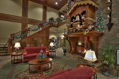 Mantle is a huge working Coo- Coo Clock!!! The Inn at Christmas Place in Pigeon Forge Tennessee.