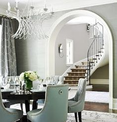 The exact picture I based my living and dining room off of... Love this!