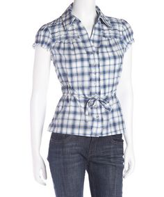 cute blouse for possible refashion of a large shirt