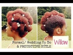 """The wedding season is still in session, so here's a quick formal up do that can also be a protective style. This is letter """"W"""" from the ABC Protective Style . Wedding Up Do, Formal Wedding, Wedding Blog, Loose Curls Hairstyles, Formal Hairstyles, Natural Hair Updo, Natural Hair Styles, Flat Twist Updo, Late Summer Weddings"""