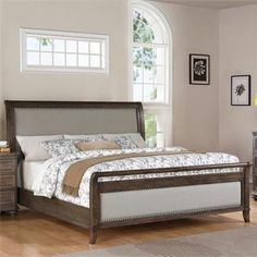 Riverside Belmeade King Upholstered Sleigh Bed