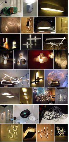 Asymetric lighting shots taken from Progress Lighting designers attending EuroLuce. #lighting #trends