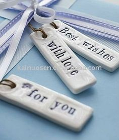 ceramic gift tags - Google Search