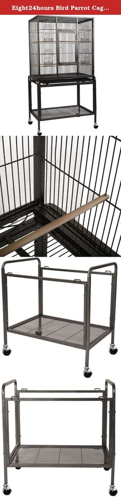 """Eight24hours Bird Parrot Cage Chinchilla Cockatiel Conure Large Cockatiel House Metal Wheels. Product Description: This Product Is A Large Iron Bird Cage. It Features 4 Feeding Cups 2 Perches To Stand On, Front Door. It Will Make Your Pet More Free And Happy. Also, There Is A Removable Sliding Tray On Bottom Which Makes Cleaning Easily.Welcome! Competitive Price With Good Quality Can Be Realized Here! Specifications: Color: Black Size: 25""""(W) X 17""""(D) X 53""""(H) Material: Iron Overall…"""