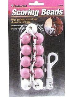 Breast Cancer Awareness : Golf Gifts Pink Scoring Beads