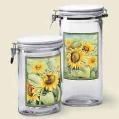 Country SUNFLOWER Kitchen sealed Jars