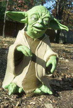 "1999 Star Wars 14"" Tall Latex YODA  Puppet ~ $37.50"