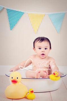 basin; ducks; rubber ducky; bath; banner; props
